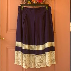 Cotton and lace modest skirt